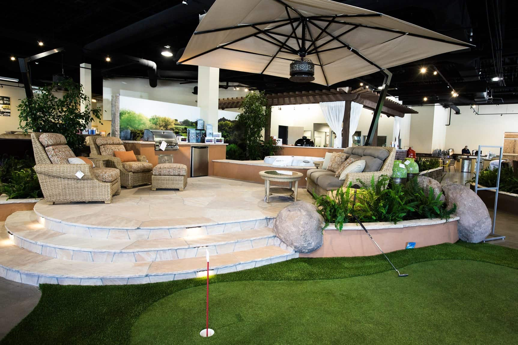 Backyard design ideas backyard design showroom az for Backyard designs