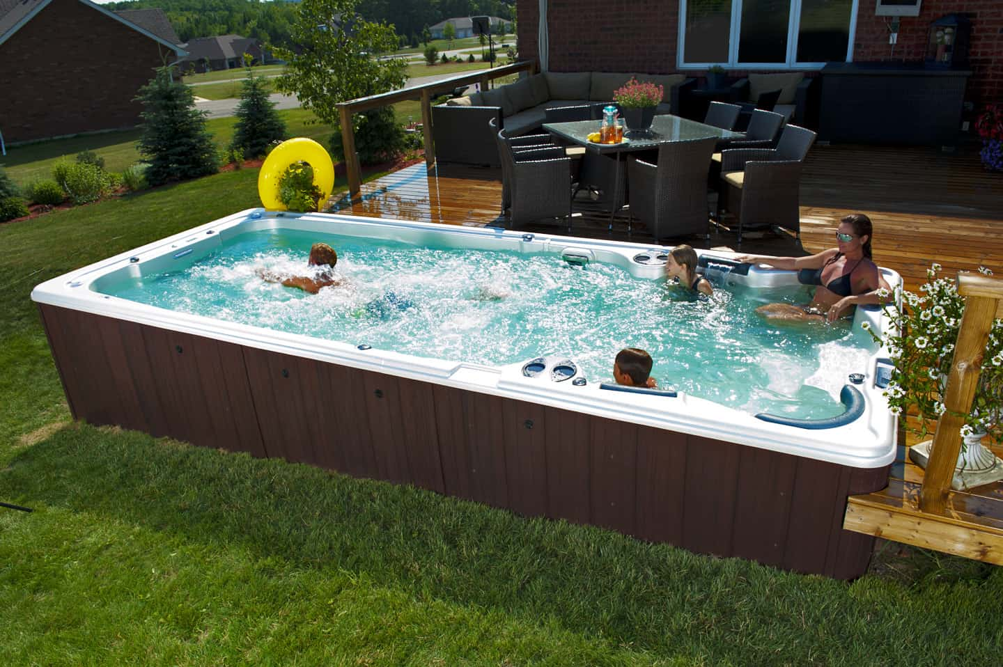 Are swim spas swimming pools for Spa and pool
