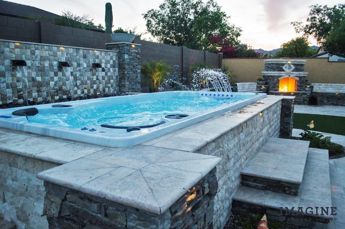 imagine backyard living hot tub spa jacuzzi sundance 6. Black Bedroom Furniture Sets. Home Design Ideas