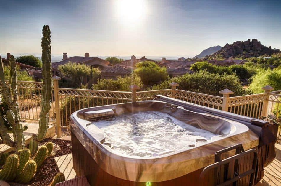 Imagine Backyard Living Hot Tub Sunset