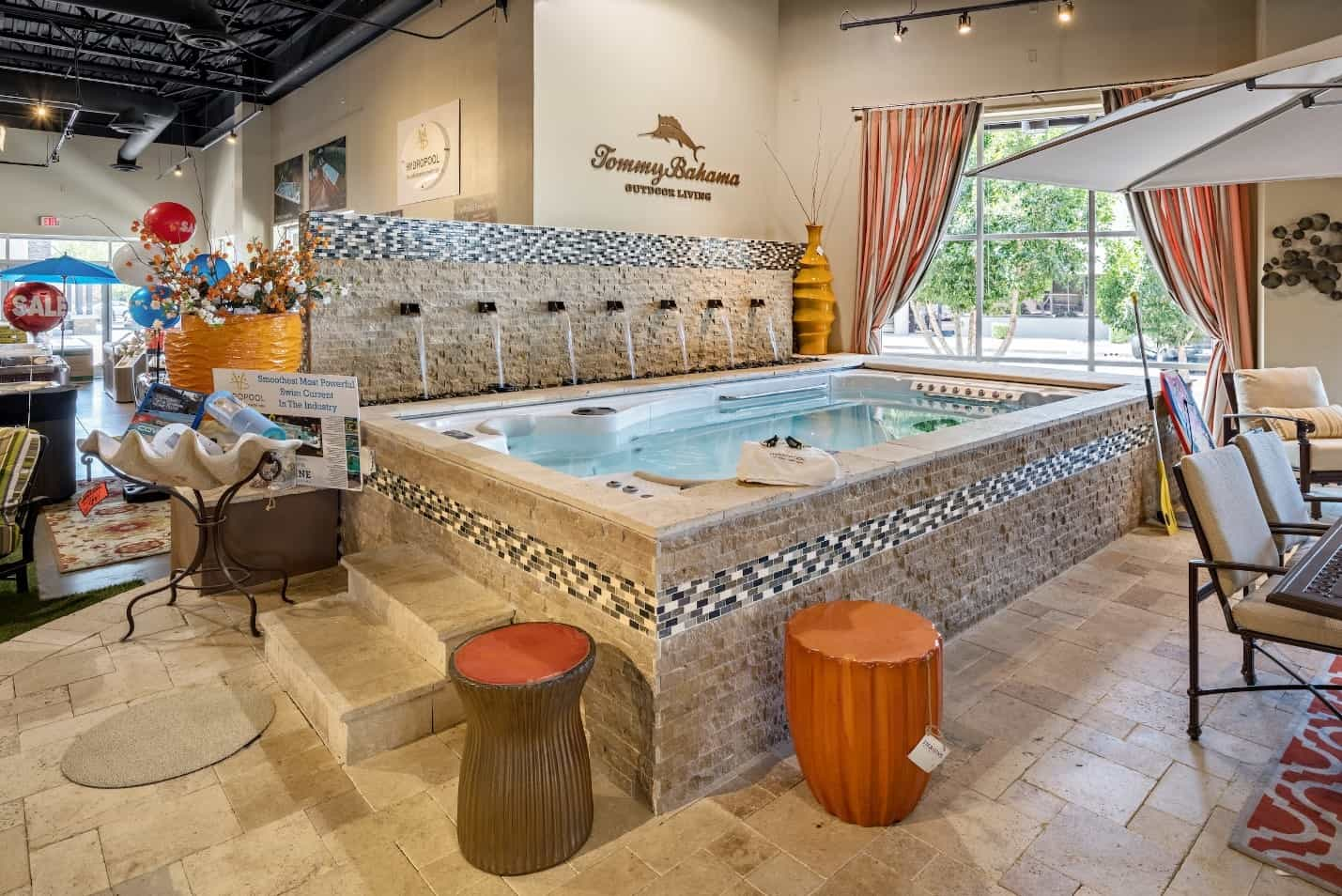 Swim spa at the Imagine Backyard Living showroom