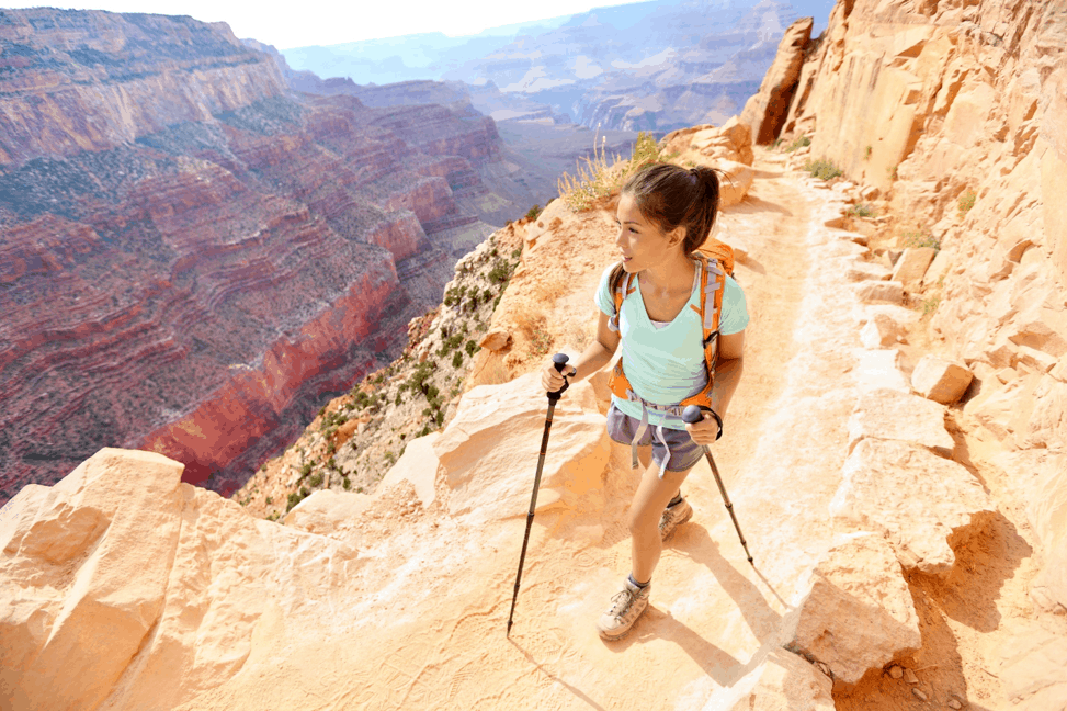 Woman hiking in Arizona.