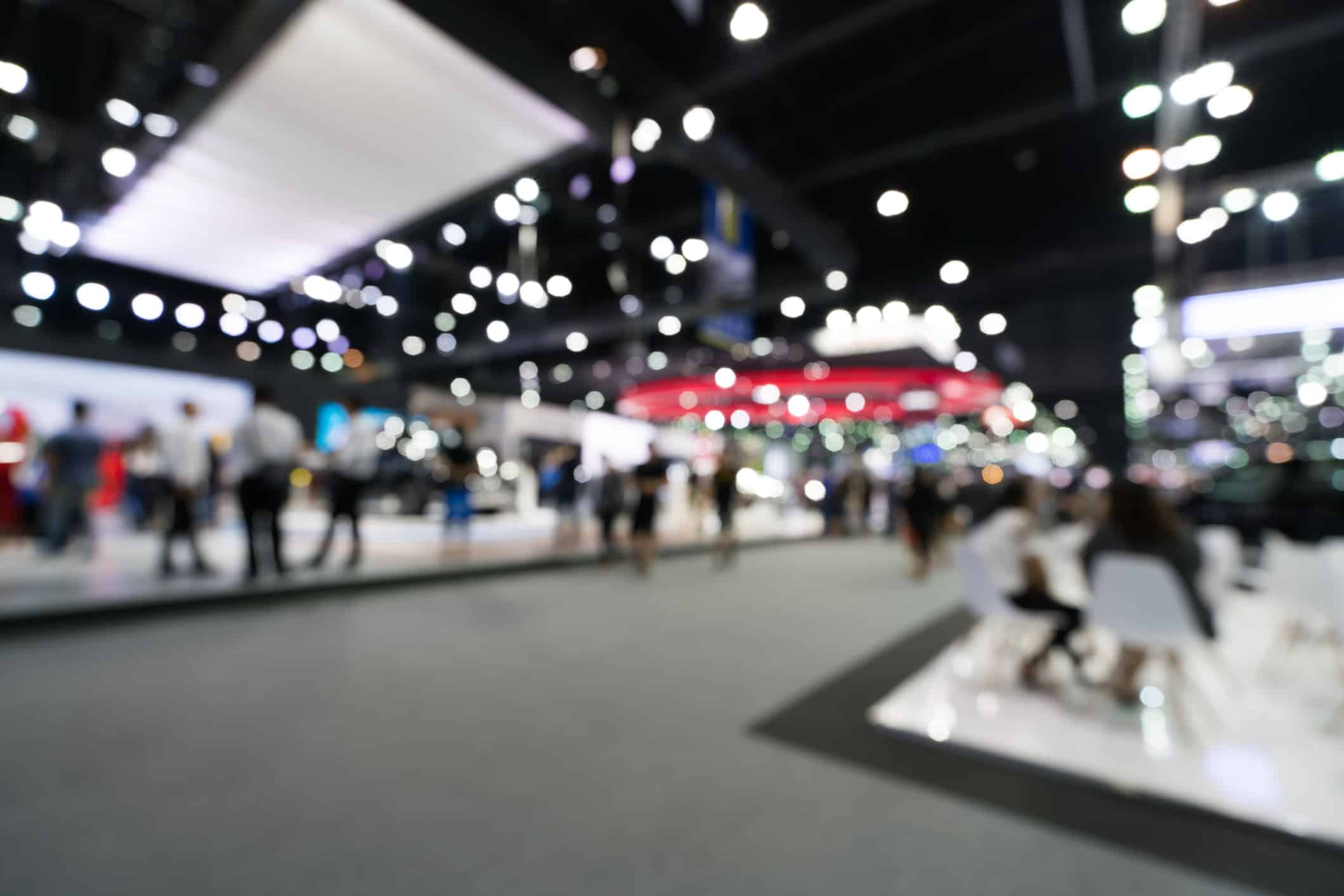 Blurred exhibition hall